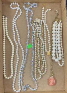Seven Miscellaneous Necklaces- Pearl Like