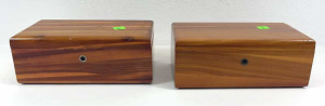 Two Wooden Jewelry Boxes Approx. 9x5x3.5