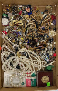 Flat Of Miscellaneous Costume Jewelry