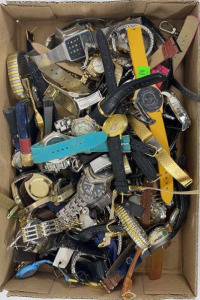 Flat Of Watches And Watch Pieces