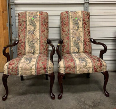 Pair Of Crystal Highpoint, Nc Arm Chairs 25x19