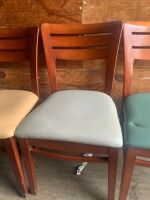 One Lot of Surplus Restaurant Chairs, and Table Bases  58 Chairs, and 4 Table Bases NO TOPS - 3