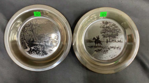 2 James Wyeth Etched Sterling Plates