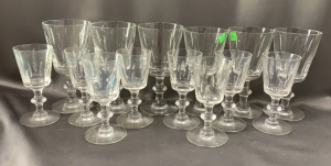 5 + 4 Hawkes Stemware Plus 5 Chipped