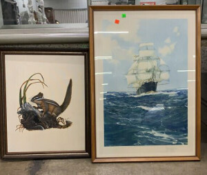 Framed Ship Print 22x31, Chipmunk Picture 18x23
