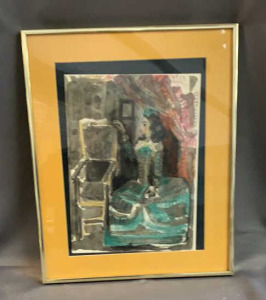 Picasso Unsigned Litho 1959 20.25x16.25