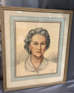 Chalk Portrait Lyman Frame Hand Colored Many