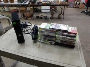 XBox 360 and Large Lot Of Games Console working.