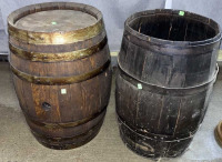 2 Barrels, One Is Missing A Lid 24x17
