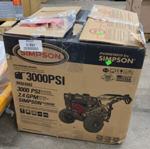 Simpson 3000 Psi Pressurewasher With Defective Tag