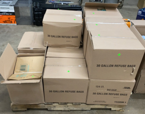 Nine Cases Of  30 Gallon Refuse Bags