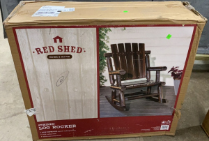 Red Shed Stained Log Rocker