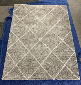 Brisbane Shag Collection Area Rug Grey And