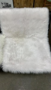 Nicole Miller Faux Fur Throw Pillow And Rug 46x32