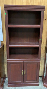 30x13x71 2 Door 2 Shelf Bookcase