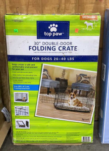 "Top Paw Medium 30"" Double Door Folding"