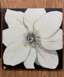 Canvas Flower Painting 28x28