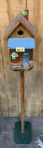 "Bait Shop Bird House 48"" Tall With 7.5x9 Stand"