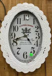 Chateau Renier Oval Metal Frame Wall Clock