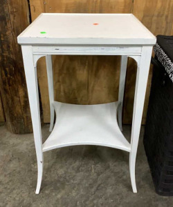 Grand Rapids Painted Side Table 16x16x28 Tall