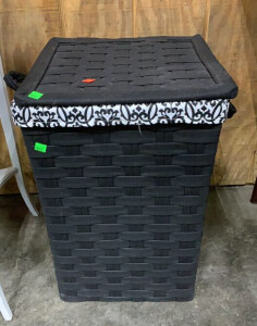 Black Clothes Hamper 15x15.5x23