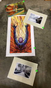 4 Pcs Of Unframed Artwork Largest Is 12x20