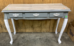 3 Drawer Painted Entry Table Grey And