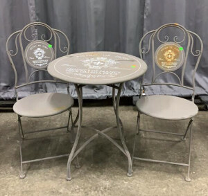 Bistro De Paris Grey Table Set 24x28 Table