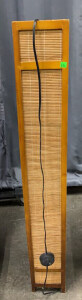 Wood Base Bamboo Screen Floor Lamp 7x49.5""