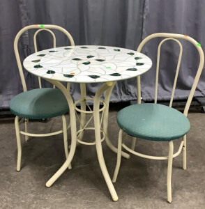 "Stained Glass Bistro Set 27.5x30"" Tall With Chairs"