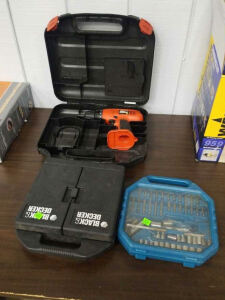Black And Decker Power Drill; No Battery Or