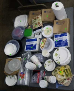 Paper Plates, Coffee Cups, Paper Towels,