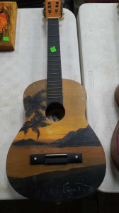 Childs Guitar; No Strings