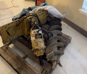 "McMillen Skid Steer Auger Attachment with 12"" 24"" 36"" Auger Bits"
