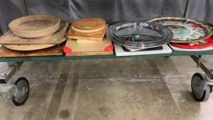 Cutting Boards, Assorted Kitchenware, Pizza Stone