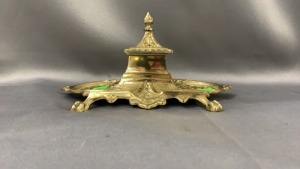 Brass Inkwell, Marked Japan