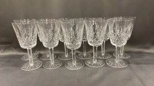 11 Waterford Water Goblets, No Chips