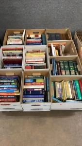 10 Boxes Books: Fiction, Legal, Health, Bio