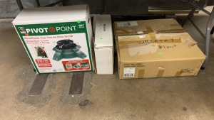 Pivot Point Christmas Tree Stand In Box; Sm Prelit