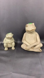 "Two Frog Figures From Godby Home Furn 8"" Tall"