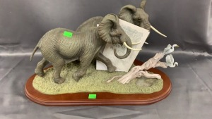 Lenox African Elephant Family Sculpture