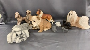 2 Pleet Dog Figurines (1994 & 98); Sandcast Lhasa