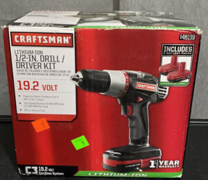 Craftsman .5 In. Drill/ Driver Kit Untested