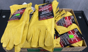 Flat Of Boss Leather Gloves, Misc. Sizes