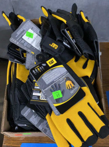 Flat Of Cat Padded Palm Utility Gloves Misc. Sizes
