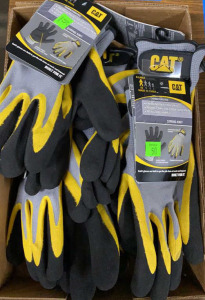 Flat Of Cat Latex Palm Gloves Misc. Sizes