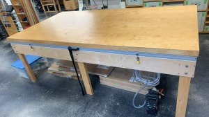 Flip Top Vacuum Press Table For Veneer 104x55.5x36