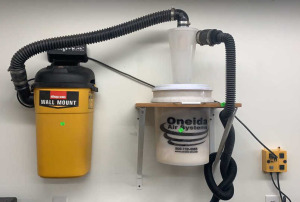 Shop Vac Wall Mount With Oneida Air System Dust