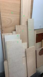 Stack Of Laminate, Lauan Sheets, Mostly Pieces