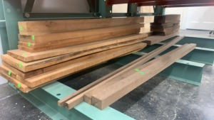 22 Pieces Of Walnut And Cherry Wood Planks